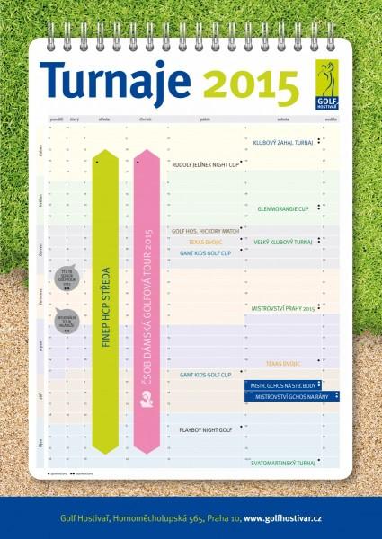 Kalendář turnajů 2015